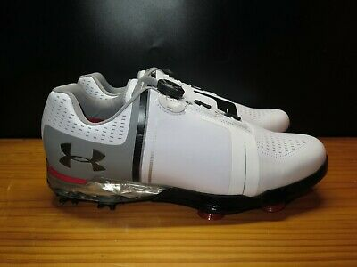 f955fe2f14d Under Armour Spieth One BOA Golf Shoes Spikes White Grey Size 10  (1292754-100