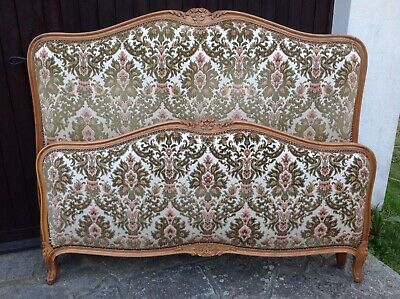 French Antique French Louis capitonne style Double bed