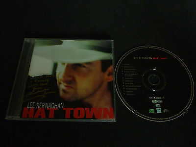 Lee Kernaghan Hat Town Ultra Rare Autographed Oz Cd!