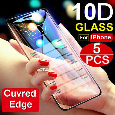 For iPhone X/XR/XS MAX/6/7/8 Plus 10D Full Cover Tempered Glass Screen Protector