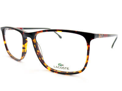 9e4283c472c7 LACOSTE Brown Havana  Red Grey 55mm Spectacles Glasses Frame L2807 220