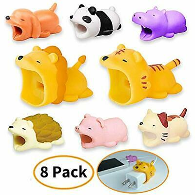 Cable Phone Charms Buddies, Cute Animal Bites Charging Cords Data Line 8 Pack -
