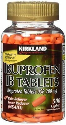 Kirkland Ibuprofen 200 mg IB Tablets, 500 Caplets FREE SHIPPING WORLDWIDE