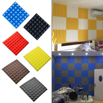 30*30cm 10Pcs Acoustic Wall Panels Sound Proofing Foam Pads Studio Treatments