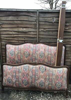 Antique French Louis Style capitonne double bed