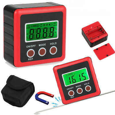 360° Digital LCD Protractor Inclinometer Angle Magnetic Gauge Box Finder Level