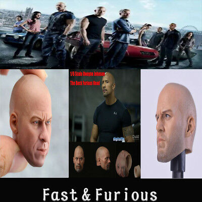 1:6 head sculpt Fast & Furious Carving Hot Toys Fit 12'' Body Action Figure
