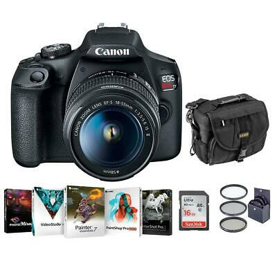 Canon EOS Rebel T7 DSLR Camera with EF-S 18-55mm f/3.5-5.6 II Lens W/Acc Bundle