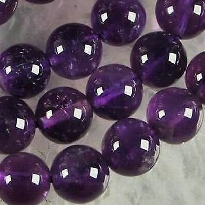 wholesale! 6-8-10mm Natural Russican Amethyst Round Gemstone Loose Beads 15''