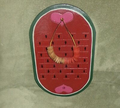 Rustic Hand Painted Watermelon Checkerboard Primitive Wall Hanging