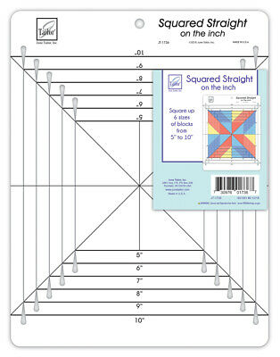 June Tailor Squared Straight on The Inch Quilting and Patchwork Ruler - JT-1736