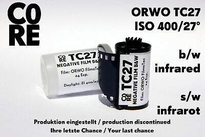 ORWO TC27 Film • ISO 400 • 35mm NEW & FRESH FILM b/w Black & White Negativ 135