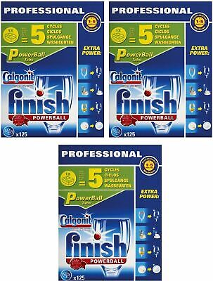 Finish Powerball Professional Dishwasher Tablets Cleaning Pack Of 375 Tablets