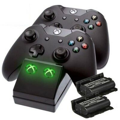 Xbox One Twin Charging Cradle (Charge Dock +2 Rechargeable Batteries) NEW SEALED