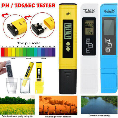 LCD Digital TDS-3 EC Water PH Pen Meter Tester temperature Monitor Tool PPM UK