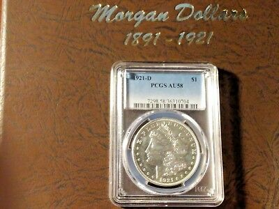 Morgan Silver Dollars Incomplete Set 1891-1921 (35 Coins) In Dansco Album