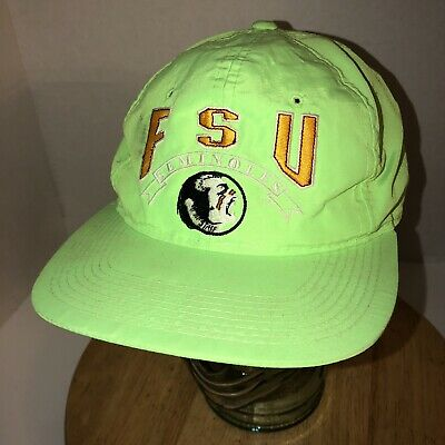 141b7a01b83 Vintage FLORIDA STATE SEMINOLES 80s The Game Nylon GLUED TAG Hat Cap  Snapback