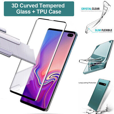 Samsung Galaxy S10 Case Cover + Tempered Glass Screen Protector For Samsung S10