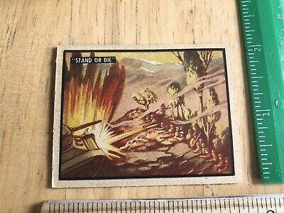 "Vintage 1950 Topps Freedom's War Korea Trading Card #7 ""Stand Or Die"""