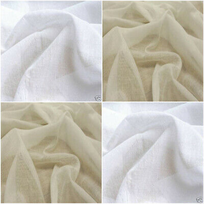 """White or Ivory EGYPTIAN DRAPING MUSLIN Cheese Cloth 100% Cotton 60"""" wide"""
