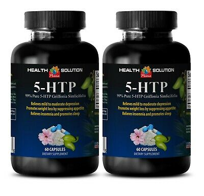 natural serotonin - 99% Pure 5-HTP Extract - dietary supplement 2 Bottles
