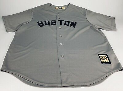 375ae48b TED WILLIAMS Boston Red Sox Cool Majestic Cooperstown Away Baseball Jersey  2XL