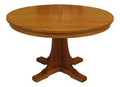 """47042EC: STICKLEY 52"""" Round Mission Oak Dining Room Table"""