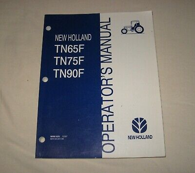 2000 New Holland Tractor Operators Manual Tn55v Tn75n Farming & Agriculture