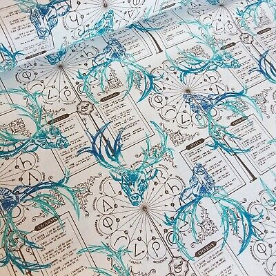 HARRY POTTER Spells /& Charms Fabric Material COTTON Crafts Quilting Sewing 1M
