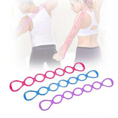 7 Holes Silicone Yoga Resistance Band Fitness Pull Rope Body Training Tools S