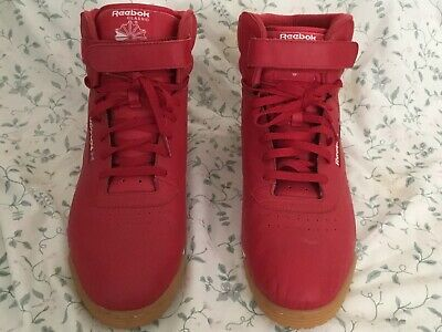 Old School Retro Mens Red Reebok Classic Ex-O-Fit Gum Hi Tops Size 13 US