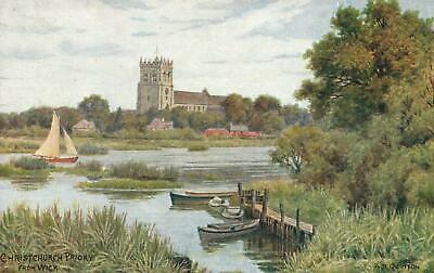EARLY 1900's VINTAGE CHRISTCHURCH PRIORY from WICK, J. SALMON POSTCARD
