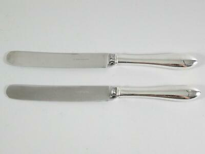 """(2) S. Kirk & Son Sterling Silver 9 7/8"""" Old French Blade Dinner Knives"""