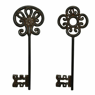 Antique Look Cast Iron Large 35 cm Key Metal Wall Art Home Decor