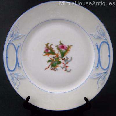 Antique Haviland  MOSS ROSE  - CAKE Plate(s) -  BLUE trim - Limoges c.1880's