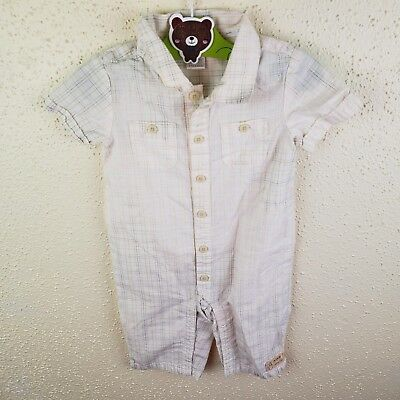 Janie and Jack Plaid Cotton One Piece Boys 3 to 6 Months