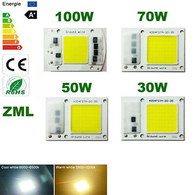 LED COB Chip 30W50W70W100W 220V 110V Input Integrated Smart IC Driver Floodlight