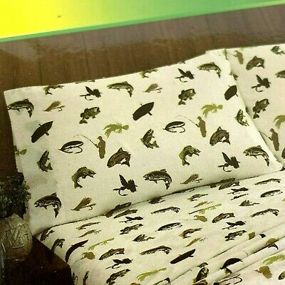 REMINGTON FULL SIZE Sheet Set Fly Fishing Trout Fishing 100