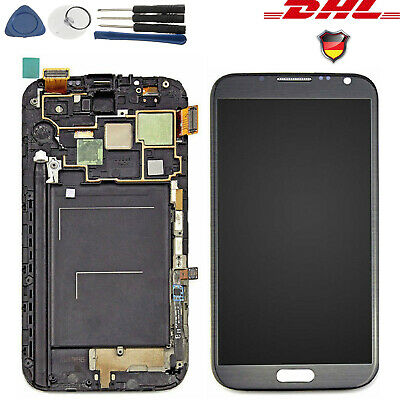 DHL LCD Bildschirm Touch Screen Display Rahmen für Samsung Galaxy Note 2 N7100