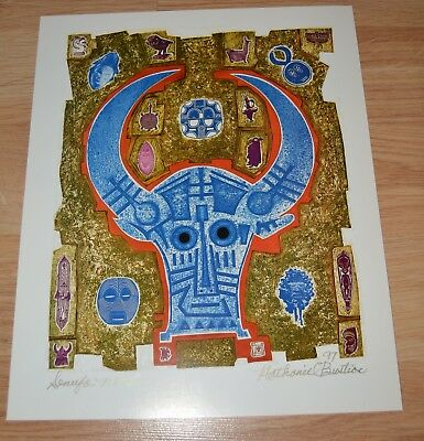 NATHANIEL BUSTION AFRICAN AMERICAN ARTIST PRINT SIGNED b