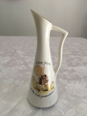 "Holly Hobbie Small Jug 1974 ""A true friend is the best possession"""