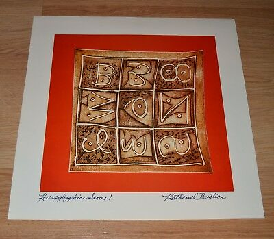 NATHANIEL BUSTION AFRICAN AMERICAN ARTIST PRINT SIGNED f