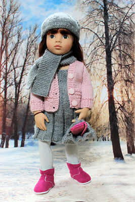Dolls Clothes - 5pce Hand Knits for Australian Girls, Gotz Classic & Happy Kidz