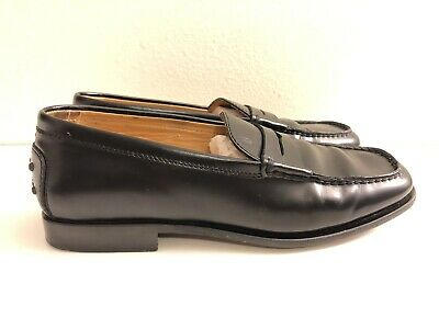 62d2c7eac00 Tods Penny Loafers Driving Shoes Women s Size EU 36.5 US 6 Black Leather Moc