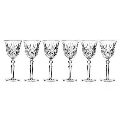 Marquis by Waterford Newberry Set of Six Crystalline Goblets (new damaged box)