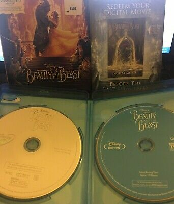 Beauty and the Beast  Disney Live Blu-ray/DVD Movie + Slip Cover & Digital HD
