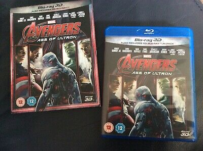 Marvel Avengers Age of Ultron 3D Blu-ray + 2D Blu-ray 2 discs with outer slip