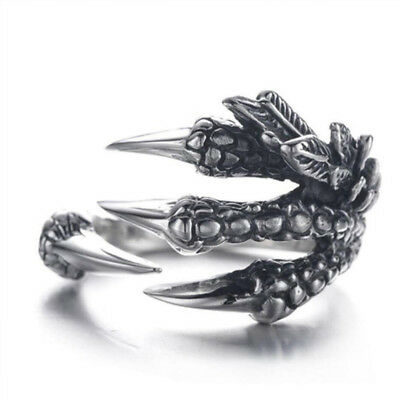 Ring For Women Men Dragon Claws Stainless Steel Gothic Metal Punk Rock Jewelry
