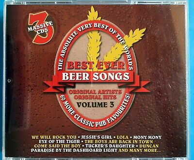 ABSOLUTE VERY BEST OF WORLDS EVER BEER SONGS Vol.3 CD Queen/Angels/Kiss/Animals