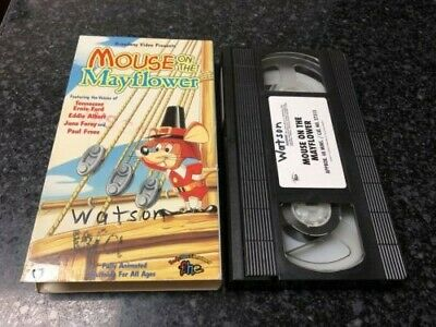 Mouse on the Mayflower VHS Video - Free Shipping - Rankin Bass